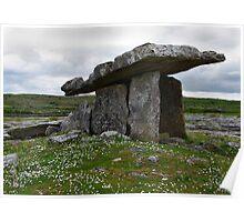 Poulnabrone Dolmen Ireland Poster