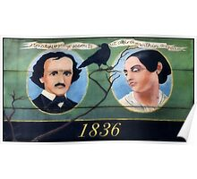 The Famous Poet Edgar Allan Poe & Wife Virginia Poster