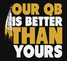 "VICT Washington ""Our QB is Better"" Kids Clothes"