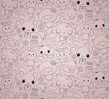Kawaii Pattern by ashkenazigal