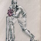 Wicket Keeper - drawing by Paulette Farrell