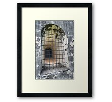 The Window at Fort Charlotte in Nassau, The Bahamas Framed Print