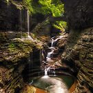 Rainbow falls of Watkins Glen by mpapke