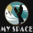 "Snowboarding ""My Space"" Black by SportsT-Shirts"