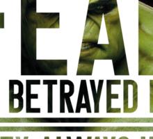 Fear (Incredible Hulk) Sticker