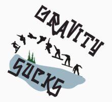 "Snowboarding ""Gravity Sucks"" by SportsT-Shirts"