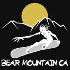 Bear Mountain, California Snowboarding Dark by SportsT-Shirts