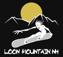 Loon Mountain, New Hampshire Snowboarding Dark by SportsT-Shirts
