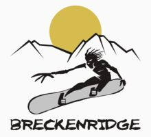 Breckenridge, Colorado Snowboarding by SportsT-Shirts