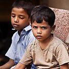 Boys In The Market by Leslie  Hagen