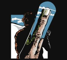 Funny Snowboarding Dark by SportsT-Shirts