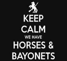 Horses and Bayonets (White Text) by triforce15