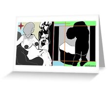 close current tab - close all tabs Greeting Card