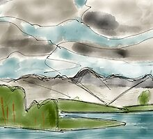 Langdale Pikes, Lake District by Asher Haynes