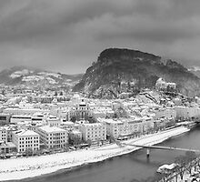 Salzburg Winter Panorama by Chris Tarling