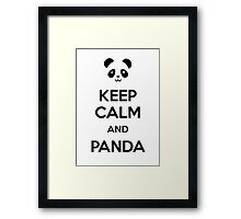 Keep Calm and Panda Framed Print