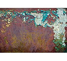 Paint mosaic Photographic Print