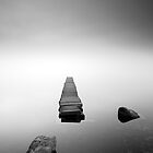 Loch Ard Jetty in the mist by Photo Scotland