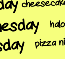 Sheldons Schedule  Sticker