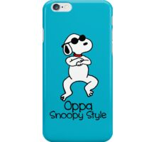 Oppa Snoopy Style! iPhone Case/Skin