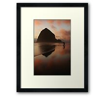Last Shots at Cannon Beach Framed Print