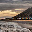 Beach Huts at Cromer  by Lilian Marshall