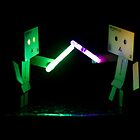 Danbo Lightsabre Battle by Toastmuncher