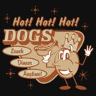 "Retro ""Hot Dogs"" by SportsT-Shirts"