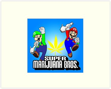 super marijuana brothers by mouseman