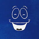 Yes Man - Smiling - 4Darks in Blue iCASE by HighDesign
