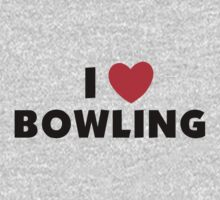 I Love Bowling Kids Clothes