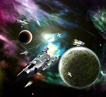 Space Fleet by Packrat
