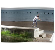 Mikey Taylor - Sw 180 Nosegrind - Photo: Sam McGuire Poster