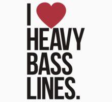 I Love Heavy Basslines. (White) Kids Clothes