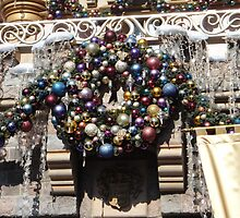 Disneyland Christmas Time- Castle Wreath by swiftjennifer