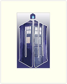 Dr Who Police Call Box Logo by HighDesign