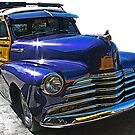 Purple Chevrolet Woody Street Rod by Samuel Sheats