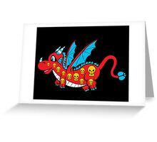 Pepper The Skull Dragon Greeting Card