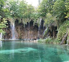 Green Plitvice lake  by pisarevg