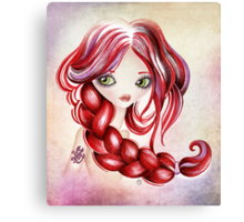 Scorpio Girl Canvas Print