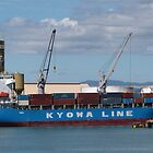 'Offloading' Container ship, Townsville Warf, Queensland.Aust. by Rita Blom
