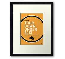 MY TOUR DOWN UNDER MINIMAL POSTER Framed Print