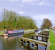 Moorings at Fradley Junction  by Rod Johnson