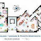The Big Bang Theory Apartment by Iaki Aliste Lizarralde