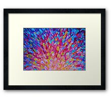 SPLASH, Revisited - Bold Beautiful Feminine Romance Ocean Beach Waves Abstract Acrylic Magenta Crimson Framed Print