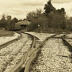 Railyard.... North Bennington Vermont by John Schneider