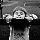 Child portrait, Swing b&w by melek0197