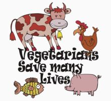 Vegetarians Save Lives by T-ShirtsGifts