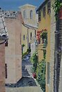 Alleyway in Montefalco, Italy by Juliane Porter