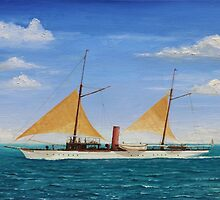 Steamship Yacht Oneida by Brad A. Thomas